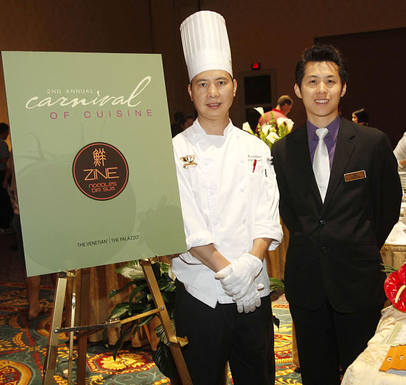 Room Chef Danny Choi and Supervisor Wai Cheung, both of ZINE Noodles Dim Sum at The Palazz
