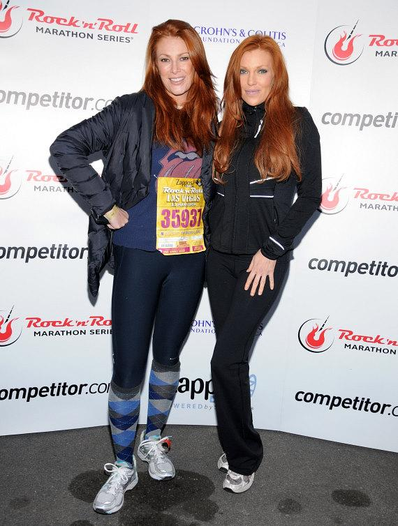 Angie Everhart and Angelica Bridges