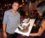 Mark Salling with cake at Marquee Nightclub
