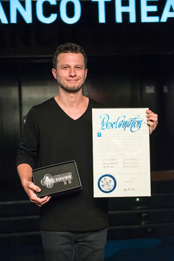Magician Mat Franco Unveils Namesake Theater Marquee at The LINQ Hotel & Casino in Las Vegas