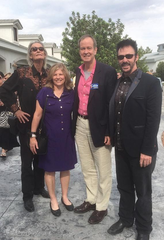 Michael Hanna, Susan Johnson, Judge Eric Johnson and Lance Burton