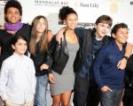 Blanket, Paris and Prince Michael Jackson with friends