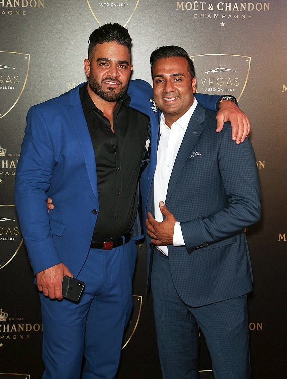 Mike Shouhed and Nick Dossa at Grand Opening of Vegas Auto Gallery's New Luxury Showroom