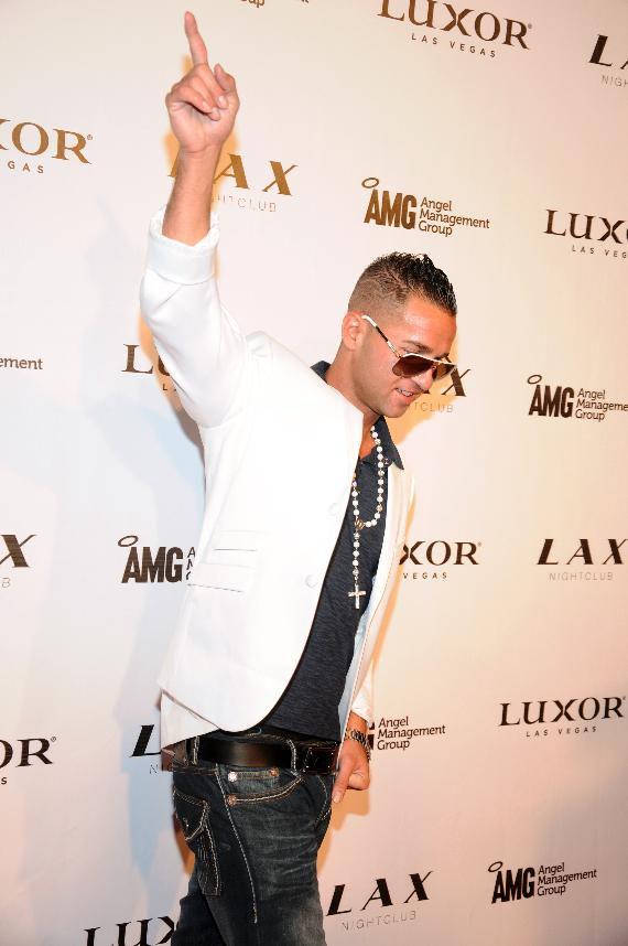 "Mike ""The Situation"" Sorrentino of Jersey Shore on red carpet at LAX Nightclub"