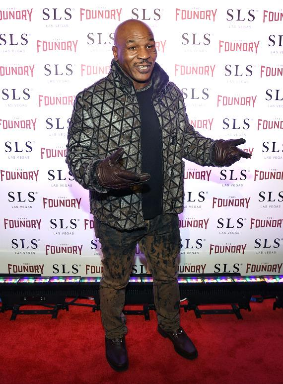 Mike Tyson on the red carpet at The Foundry at SLS Las Vegas