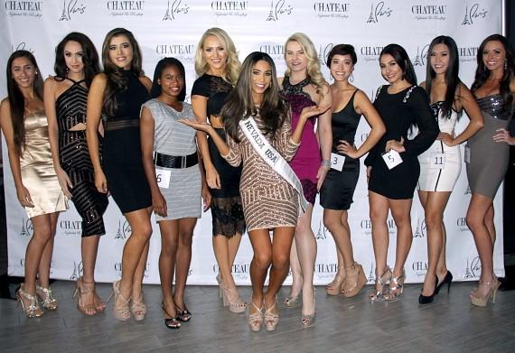 Miss Chateau contestants with Miss Nevada USA Brittany Mcgowan