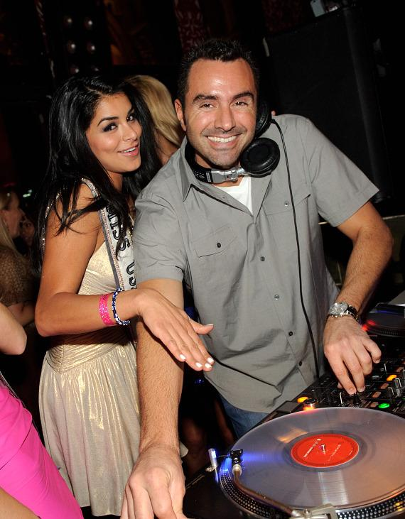 Miss USA 2010 Rima Fakih with DJ Jason Lema at TAO