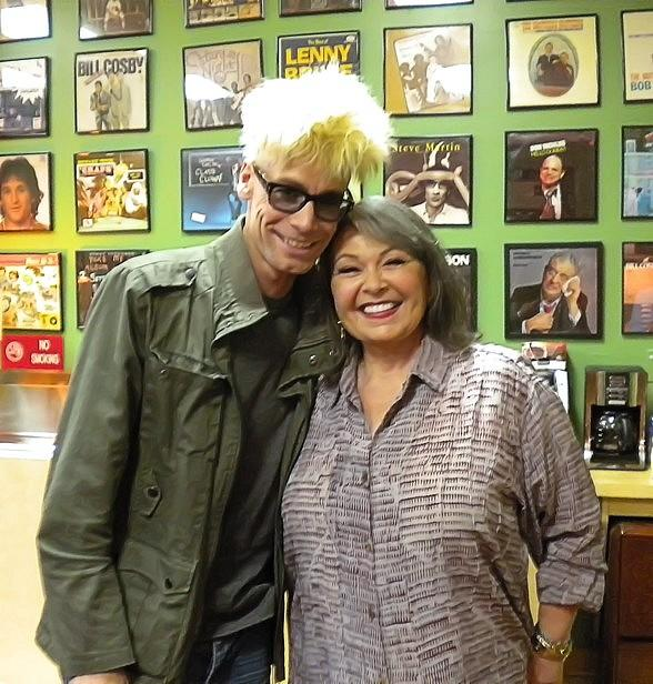 Murray and Roseanne backstage at The Laugh Factory
