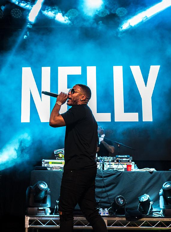 Nelly performs during Downtown Rocks concert series at Fremont Street Experience