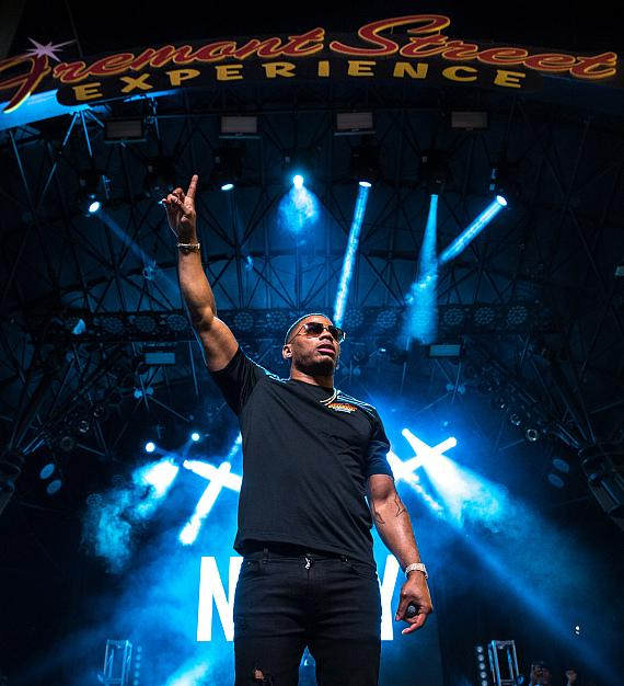 Nelly takes over 3rd Street Stage at Fremont Street Experience for Downtown Rocks performance