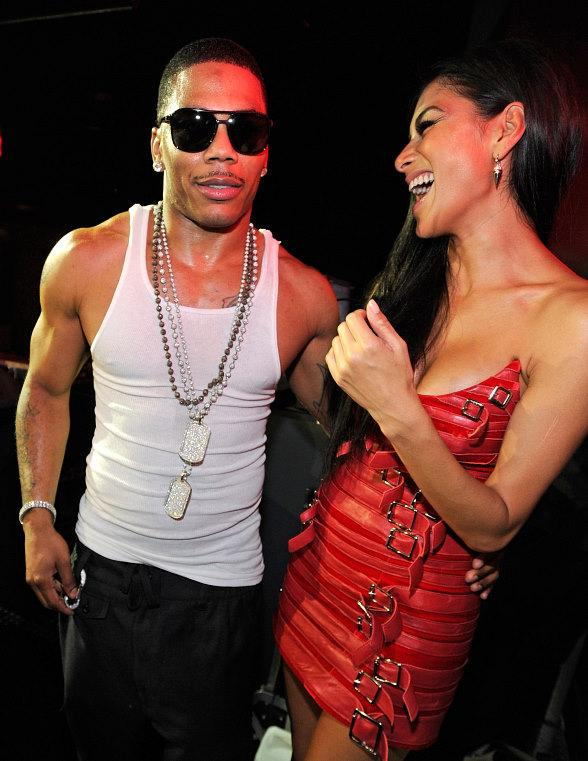 Nicole Scherzinger Laughing with Nelly at Chateau Nightclub & Gardens