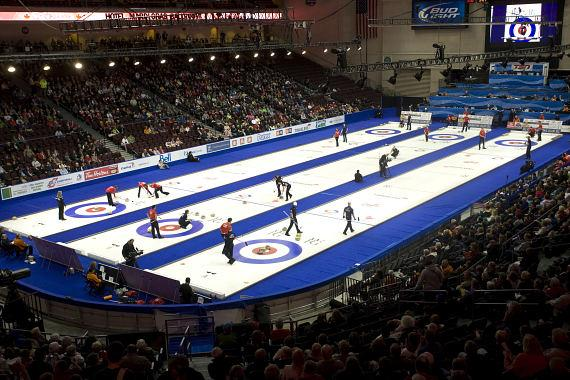 Orleans Arena - Curling in January 2014