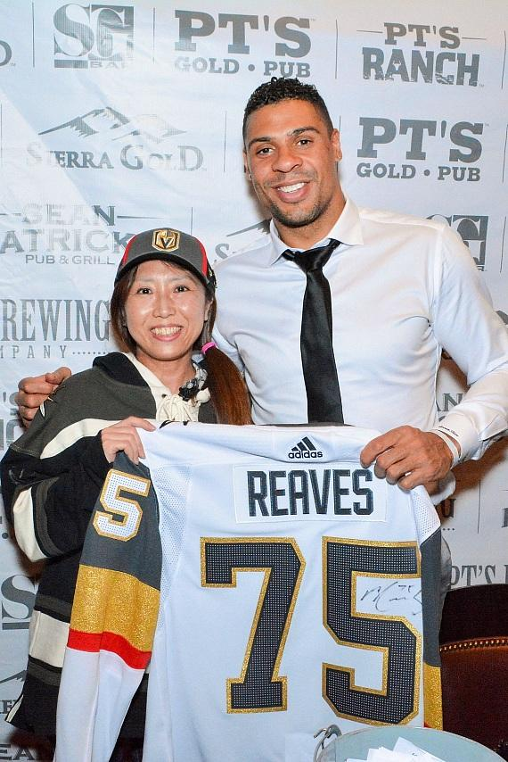 Vegas Golden Knights Player Ryan Reaves Hosts Tap Party at Sierra Gold in Las Vegas
