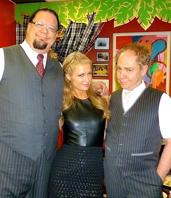 Socialite and Entertainer Paris Hilton at Penn & Teller at Rio All-Suite Hotel and Casino
