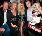 Paris Hilton with parents Rick and Kathy and brother Barron