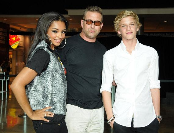 Jessica Jarrell, Stephen Baldwin and Cody Simpson at Pastry Shoes fashion show in Las Vegas