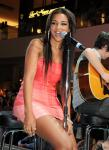 Jessica Jarrell performs at Pastry Shoes fashion show in Las Vegas