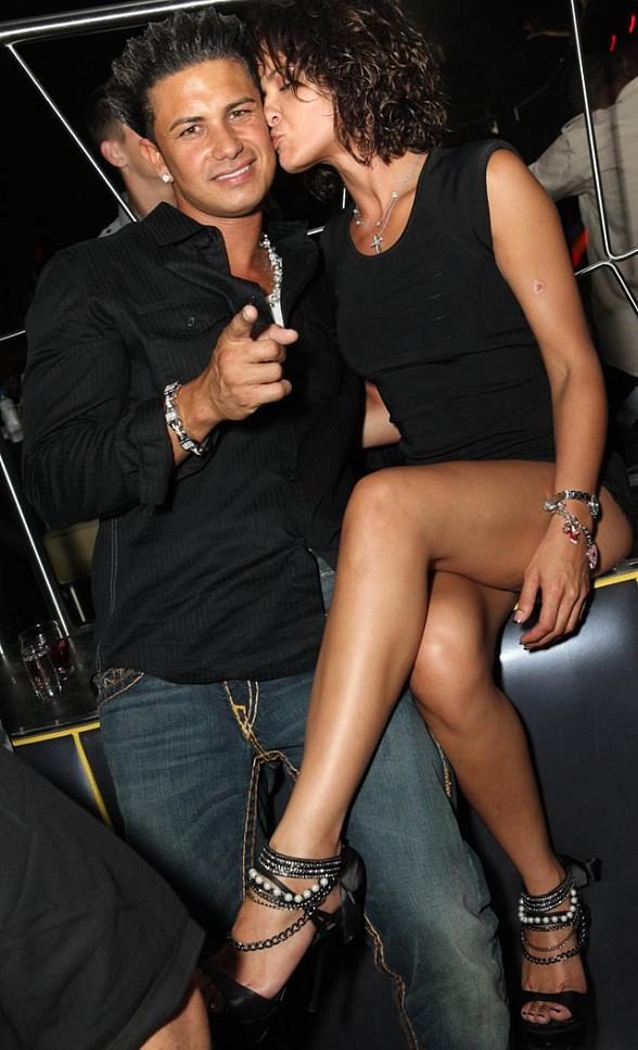 Pauly D and friend at Moon Nightclub