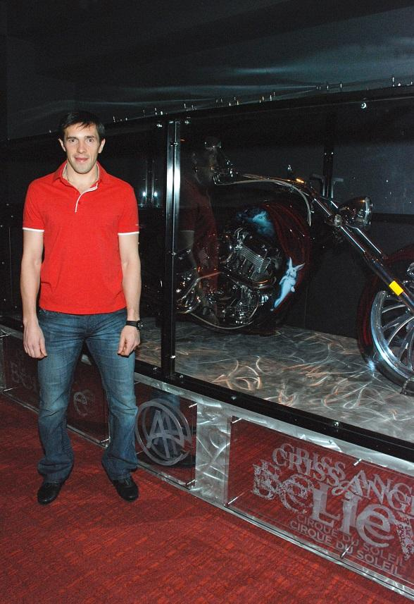 Detroit Red Wings' Pavel Datsyuk at Criss Angel Believe in Luxor