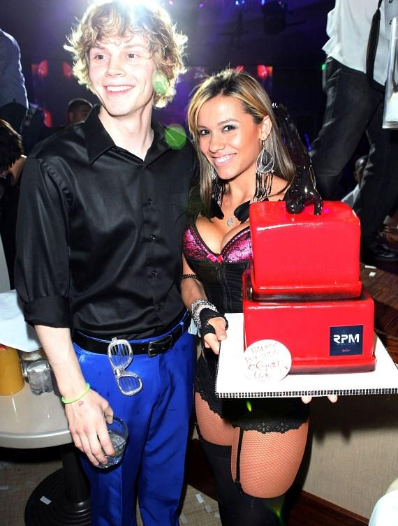 Evan Peters with Melody Sweets at RPM Nightclub