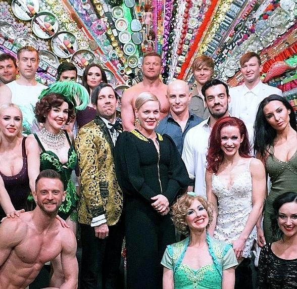 P!nk Attends ABSINTHE at Caesars Palace in Las Vegas