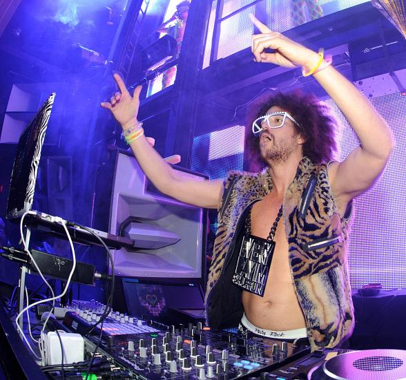 Redfoo performs at Party Rock Mondays at Marquee Nightclub