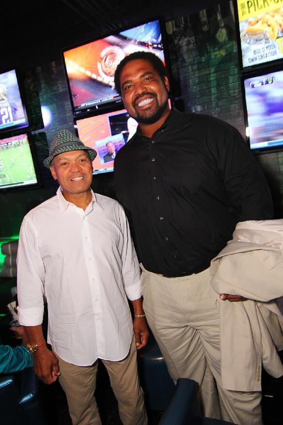 Reggie Jackson and Jonathan Ogden celebrate at Rockhouse