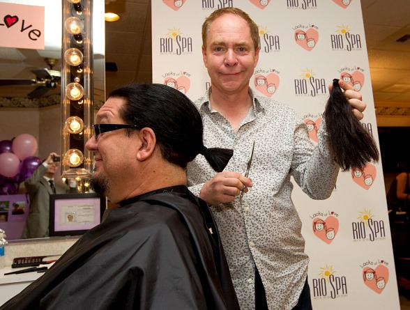Penn Jillette and Teller at Locks of Love