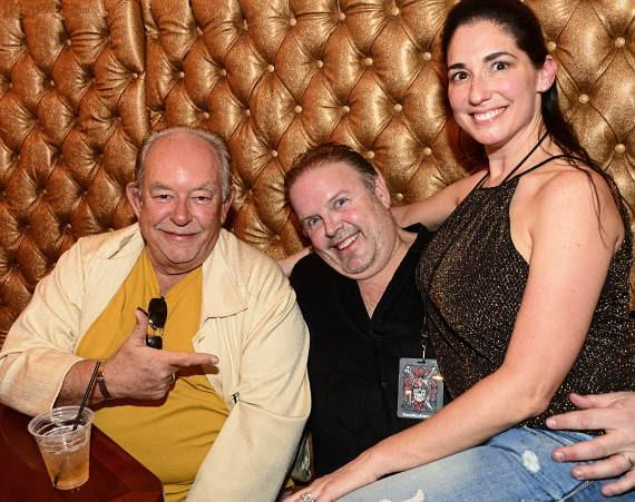 Robin Leach with David & Kristine Tuttleman at Vince Neil's Tatuado Eat-Drink-Party! at Circus Circus