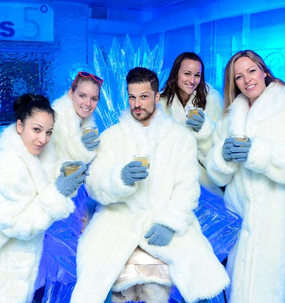 """Rock of Ages Cast Turns """"Cold as Ice"""" at Minus5 Ice Bar at Monte Carlo"""