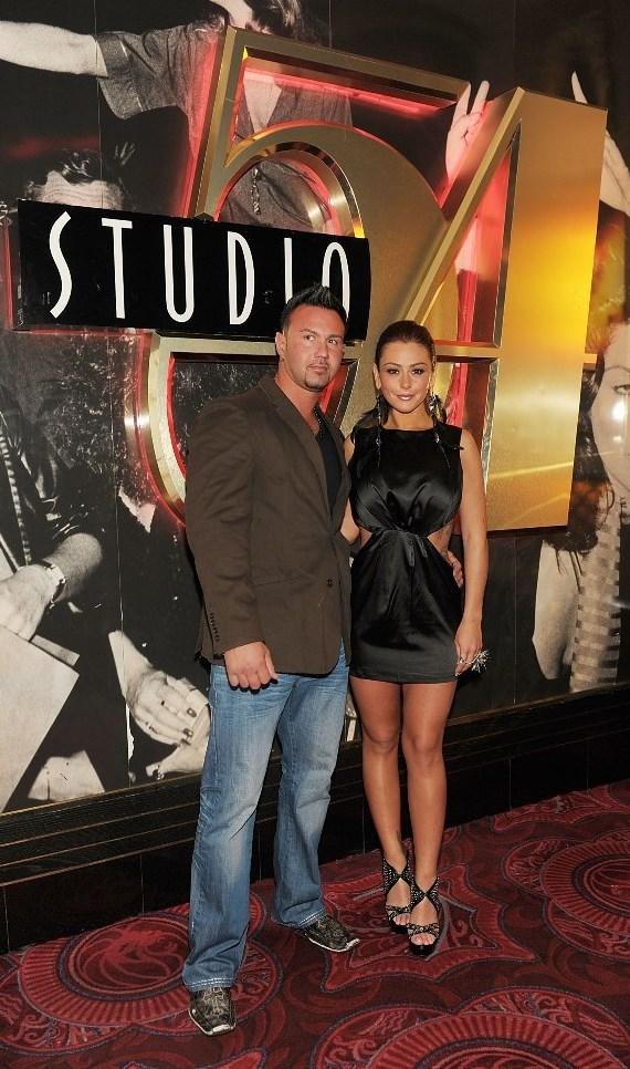 Roger and JWoww in front of Studio 54