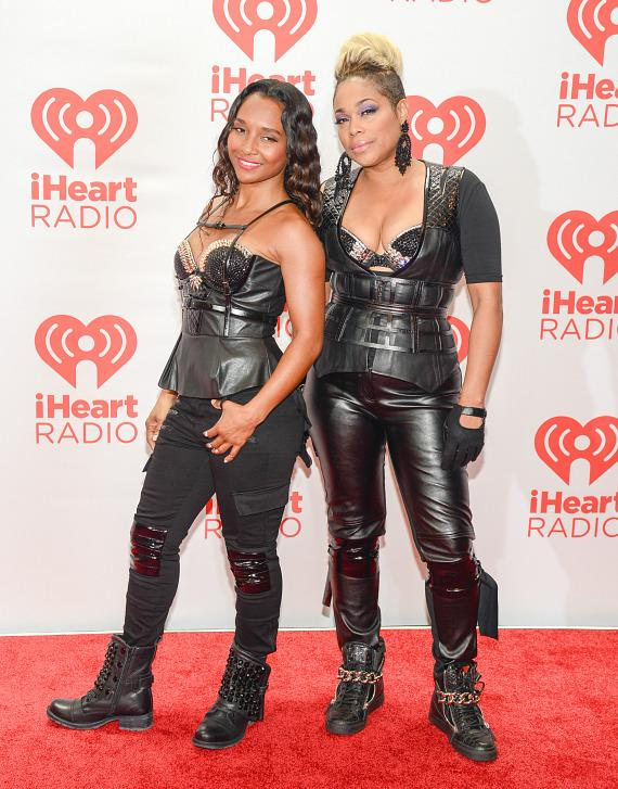 Rozonda 'Chilli' Thomas and Tionne 'T-Boz' Watkins of TLC