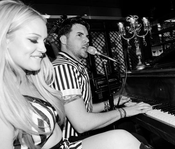 Lacey Schwimmer and Frankie Moreno