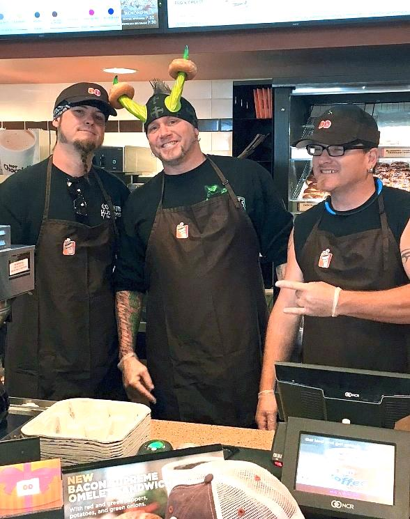 """Counting Cars"" Reality-TV Stars Serve Coffee and Donuts for Charity at Dunkin' Donuts in Las Vegas"