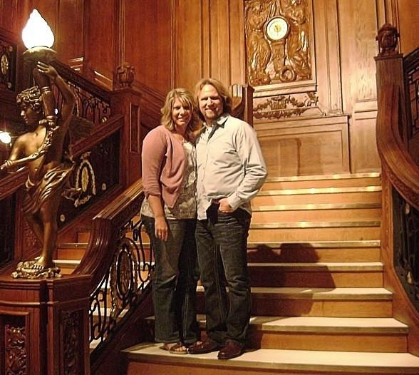 Kody and Meri Brown of Sister Wives Sighted at Titanic: The Artifact Exhibition