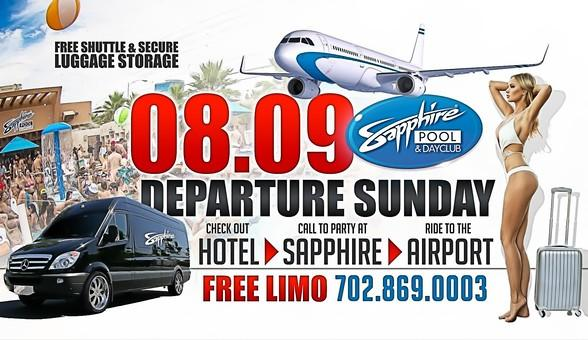 Party at Sapphire Pool & Dayclub on Departure Sunday, August 9
