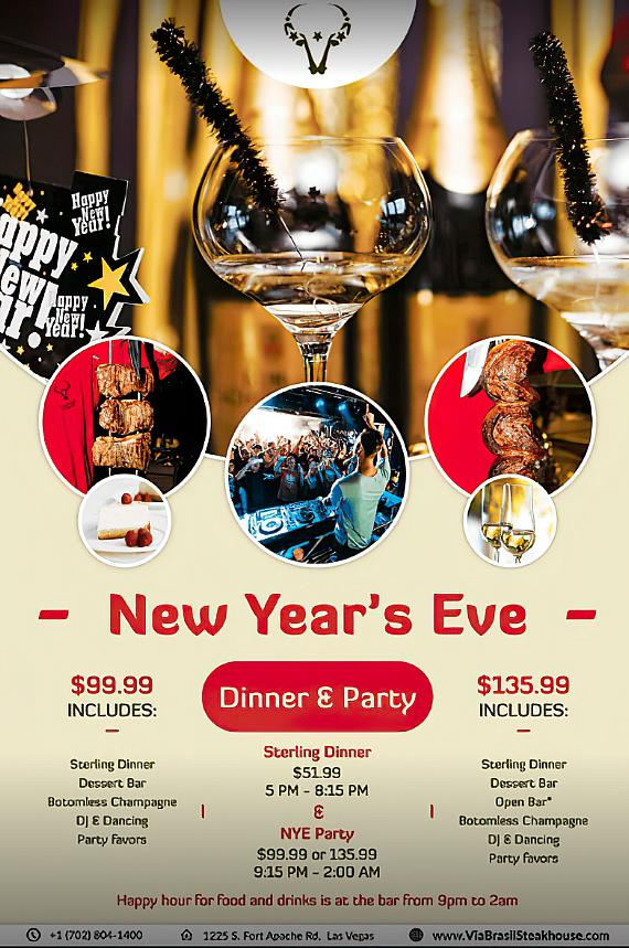 New Year's Party at Via Brasil Steakhouse