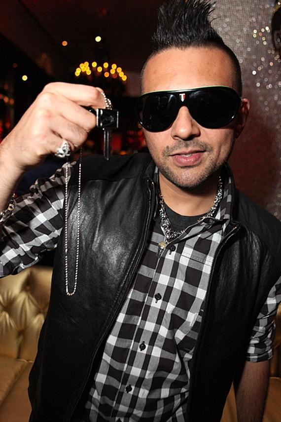 Sean Paul with Playboy Key at Playboy Club