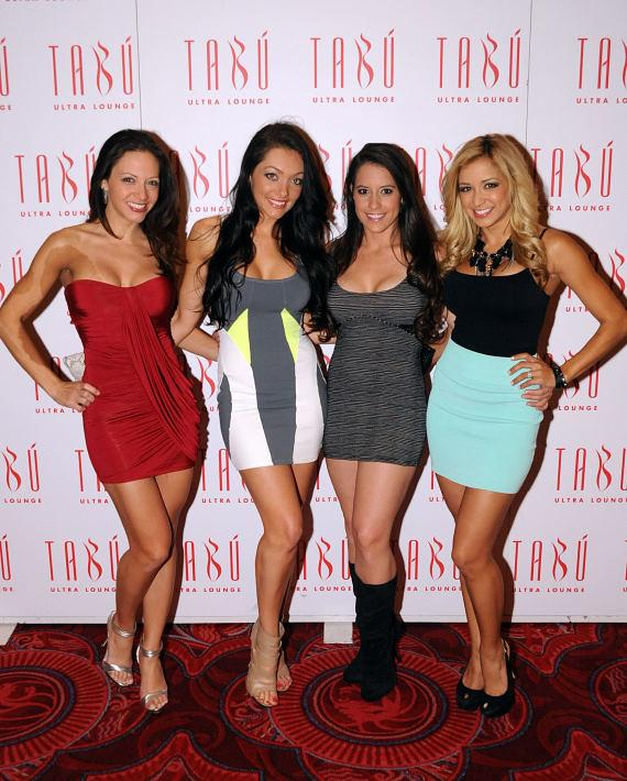Sexy Swimsuit Ladies of Miami at Tabu Ultra Lounge (Second from left is Tiffany Pearl)