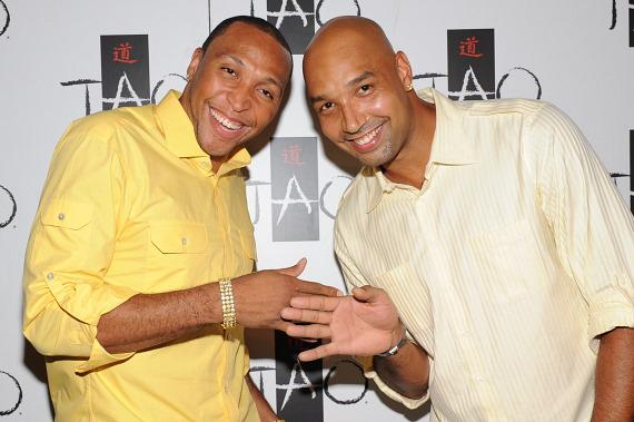 Shawn Marion and Drew Gooden at TAO