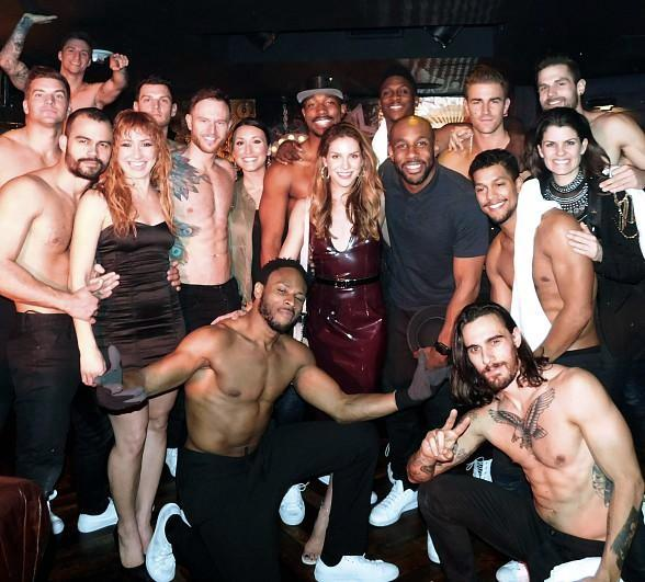 """Stephen """"tWitch"""" Boss and Allison Holker Attend """"Magic Mike Live Las Vegas"""" at Hard Rock Hotel & Casino"""