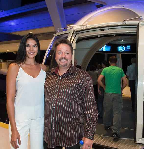 Las Vegas Headliner Terry Fator and wife Taylor Makakoa Ride the High Roller at The LINQ in Las Vegas