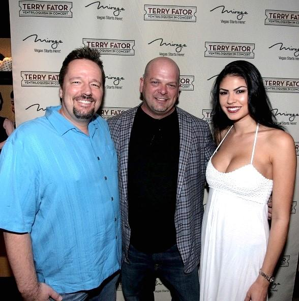 Terry Fator, Rick Harrison and Taylor Makakoa
