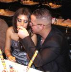 "Mike ""The Situation"" Sorrentino dines at Sugar Factory American Brasserie at Paris Las Vegas"