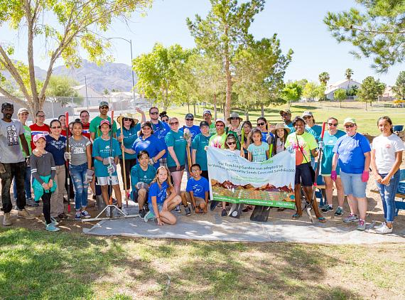 The Venetian Las Vegas, The Palazzo Las Vegas, Sands Expo and Green Our Planet at Helen Herr Elementary