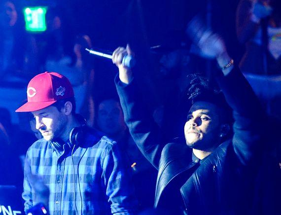 The Weeknd and Ross One at Hakkasan Ling Ling Club