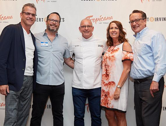 Robert Irvine with executives from Tropicana Las Vegas and Three Square at Summer Cookout 2018