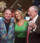 Kevin Burke, Dina Mitchell and former mayor Oscar Goodman at Excalibur Hotel Casino's Castle Walk Food Court ribbon cutting ceremony