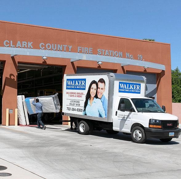 """Walker Furniture Supports """"Project Firehouse: Rested & Ready"""" by Donating Mattresses to All 30 Clark County Firehouses in the Las Vegas Valley"""