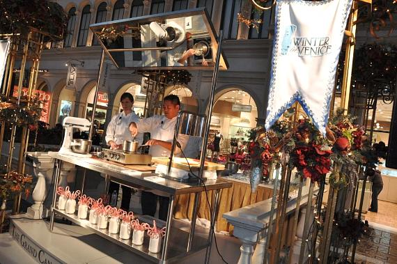 Pastry Chef Kenny Magana from Postrio Bar & Grill hosts Holiday Cooking demonstration